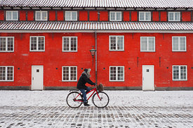 A cold day on the bicycle