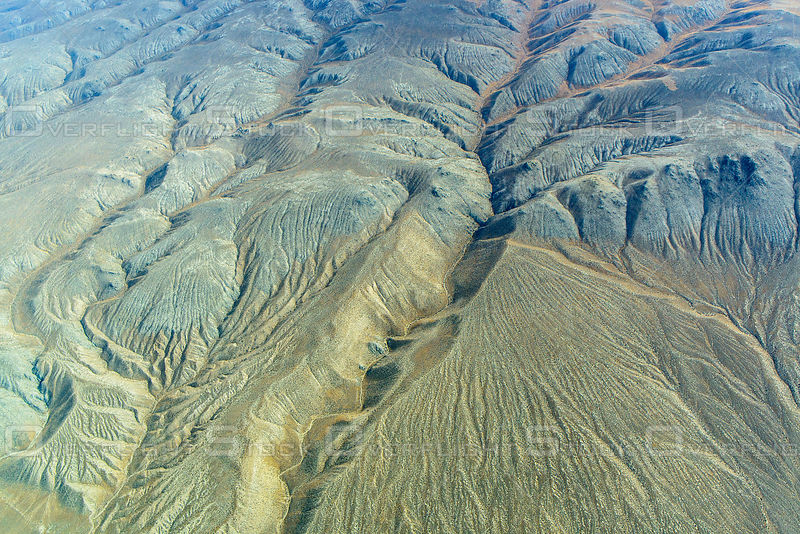 Eroding Pattern Sediments in a Nevada Mountain Range Create Drainage Patterns