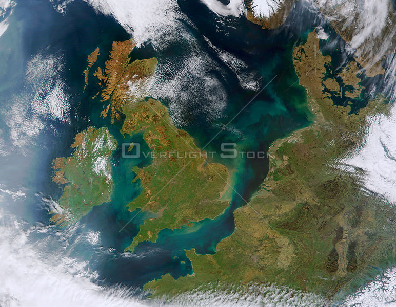 EARTH Western Europe -- 06 Apr 2002 -- This true-color MODIS image showcases Northern Europe. Shown are the United Kingdom, the Republic of Ireland, northern France