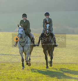 Katie Dutton, Isobel McEuen - The Cottesmore Hunt at Owston 29/11