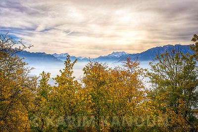 Above the clouds - Autumn season