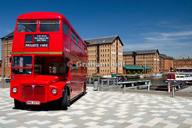 Routemaster double decker bus Gloucester Historic Dock, Gloucester, Gloucestershire, England.