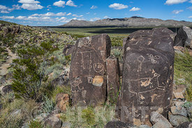 Exquisite Rock Art at Three Rivers Petroglyph Site