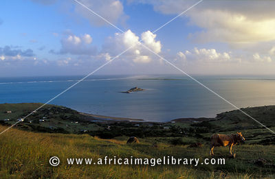 View over the surrounding islands, Rodrigues