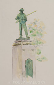 Confederate Soldier, original watercolor illustration, unframed