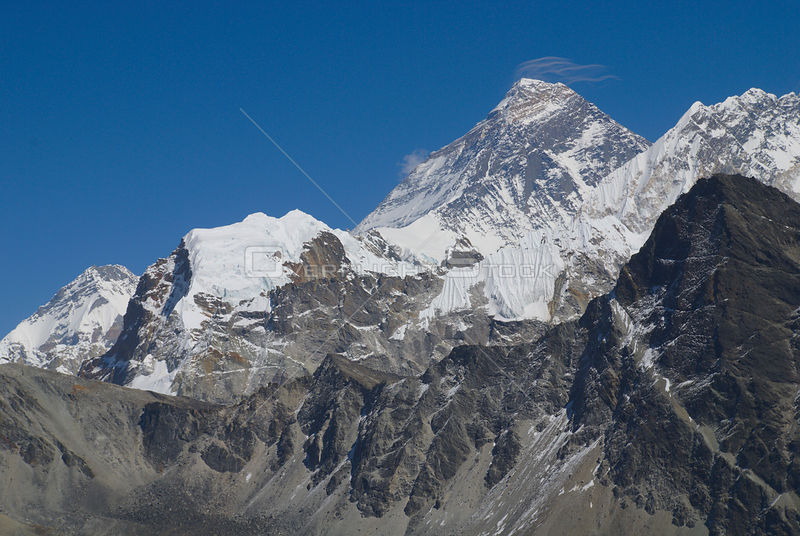 NEPAL Mount Everest -- The summit of the world's highest mountain, Mount Everest, which towers 8848 metres above sea level in the Khumbu Himal of Nepal.