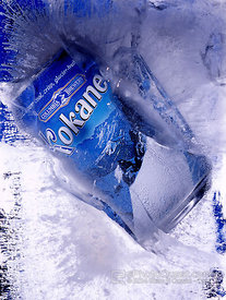 Beer Can in Ice