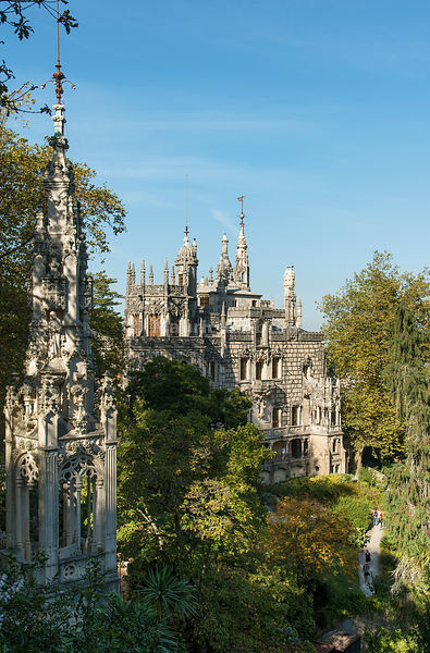 The Palace in the Quinta da Regaleira, by the architect Luigi Manini (1900). Sintra, Portugal