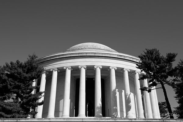 THOMAS JEFFERSON MEMORIAL WASHINGTON DC BLACK AND WHITE
