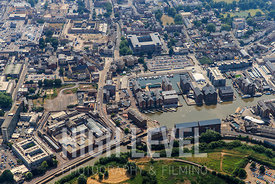 Aerial Photographs taken over the town of Gloucester, UK