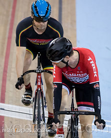 Master C/D Men Sprint 1-2 Final. Ontario Track Championships, March 3, 2018