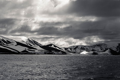 Black and White Deception Island photos