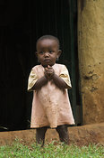 Young child suffering from poverty , Kenya