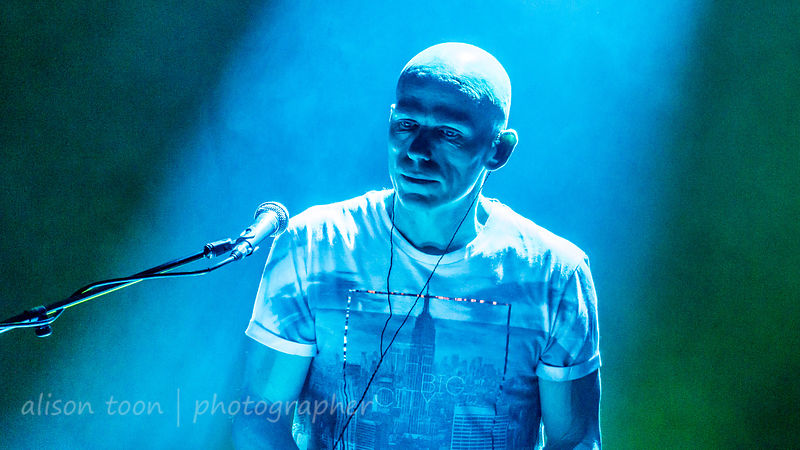 Mark Kelly, keyboards, Marillion, Friday evening, Montreal, 2015