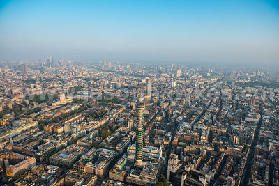 Aerial view of the BT Tower, London