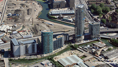 new flats along High Street Stratford , London