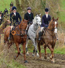 near Lewin's Gulley - The Cottesmore Hunt at Braunston 8/11