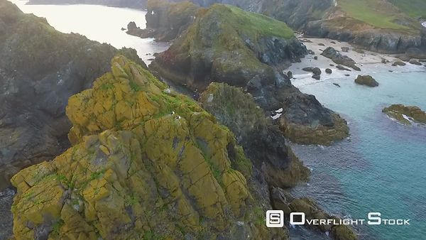 Seaside Cliffs Lizard Land's End Cornwall England Video Footage