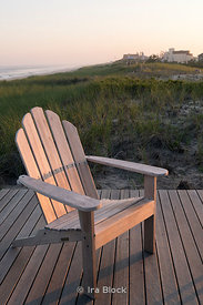 A chair near the beach at Amagansett, New York.