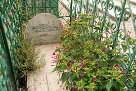 A grave near Saidia beach in Berkan on the Moroccan-Algerian border in Morocco.