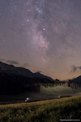 One night beneath the Milky Way - Plateau des Glières