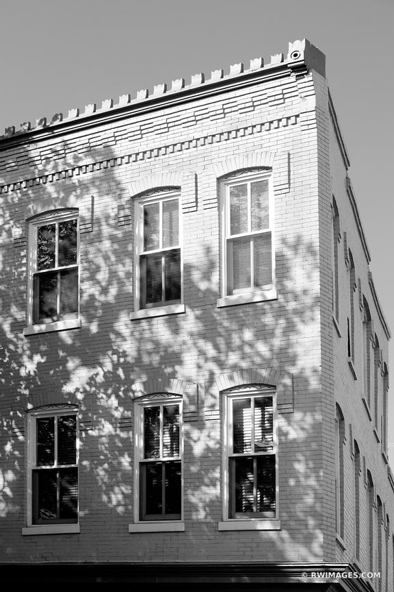 HISTORIC GEORGETOWN ARCHITECTURE WASHINGTON DC BLACK AND WHITE