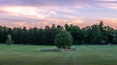 Sunset over Princeton Battlefield