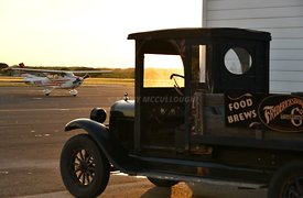 Old car at Fredericksburg Airport