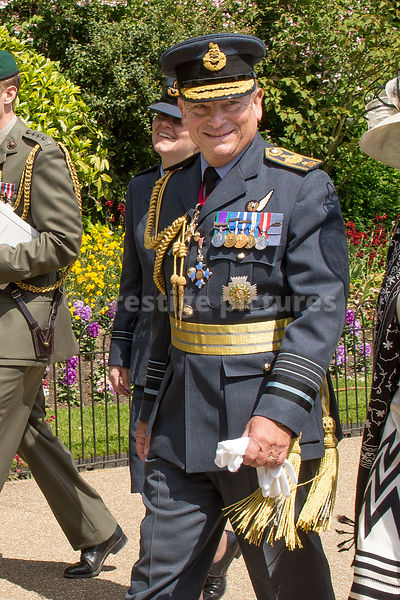 Air Chief Marshal Sir Stuart Peach - Vice Chief of the Defence Staff -  in the VE70 Veteran's Parade
