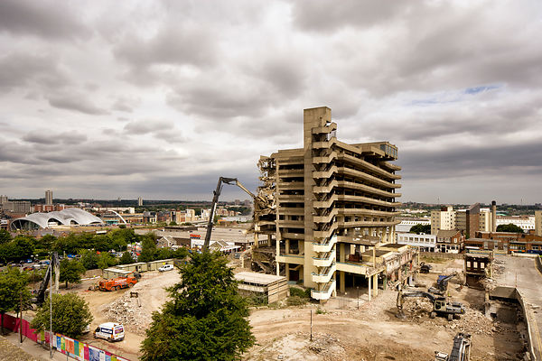 Gateshead car park being demolished