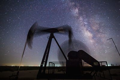 Pump Jack with the Milky Way #3