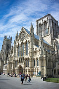 York Minster, a medieval cathedral in Yorkshire, UK