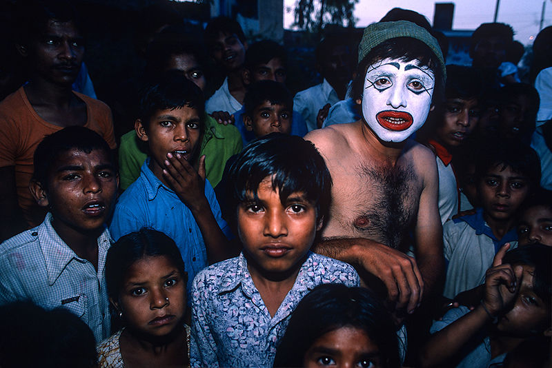 New-Delhi, Inde (1985) - Le Clown blanc. Édition de 7 ex.
