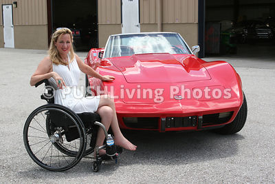 Woman with some Classic Cars