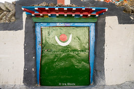 A door in the town of Tingri, Tibet.