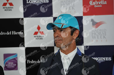 during CSI5-W_1,60_Longines World Cup Grand Prix competition at Madrid Horse Week at IFEMA, Madrid - Spain