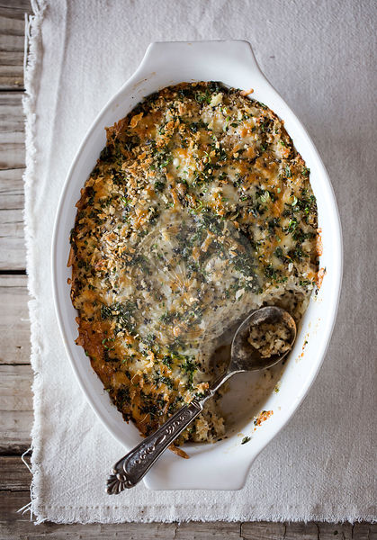 Spicy Cauliflower Gratin with Crunchy Topping