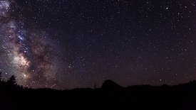 Wide Shot: Spectacular Full Rotating Milky Way Bursts Into A Sunrise in the Trinity Alps, California (Night To Day)