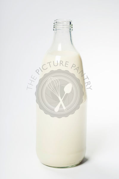 Milk in a glass bottle