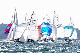 RS400 and Flying Fifteens racing in Poole Week 2017