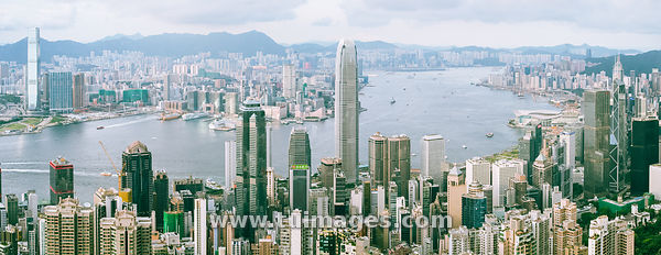 Hong Kong victoria Harbour Panorama
