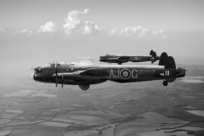 Lancasters AJ-G and AJ-N carrying Upkeeps black and white version
