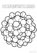 Buckminsterfullerene Colouring In #11