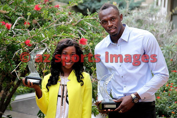 Fraser-Pryce and Usain Bolt Athletes of year 2013