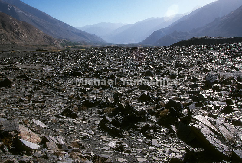 The Wakhan Corridor, Afghanistan. Heading east along the bed of a dried-up river.