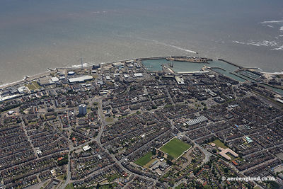 aerial photograph of Lowestoft Suffolk England UK