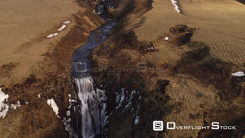 Drone Video Waterfall Iceland