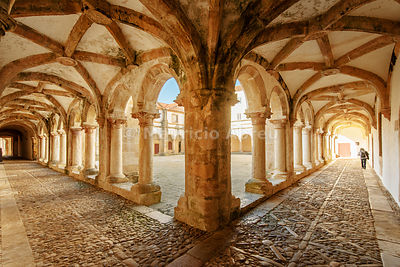 Micha cloister. Convent of Christ, a UNESCO World Heritage Site. Tomar, Portugal