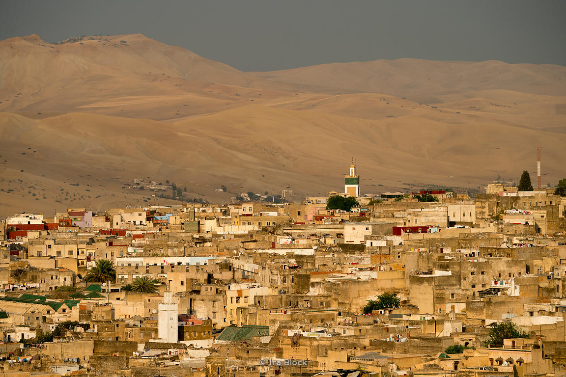 A view of the medina in Fes, Morocco.