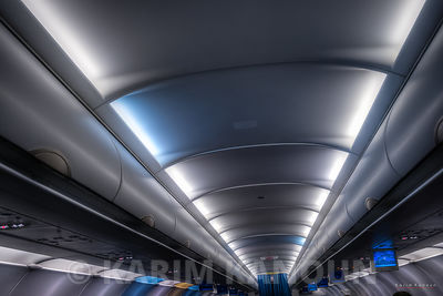 Inside a futuristic airplane - Tunisair